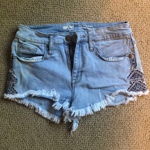 Jeans Shorts with Side detailing